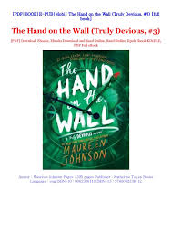 The Hand on the Wall (Truly Devious, #3) By Maureen Johnson