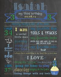 3rd birthday chalkboard birthday poster
