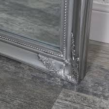 full length ornate silver wall mirror