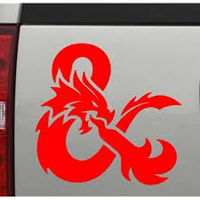 Amazon Com Dragon D D Gamer Die Cut Sticker Red 4 X 4 143 Everything Else