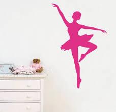 Ballerina Wall Decal Ballerina Wall Sticker Pink For Home Wall Decals Decoration Mural Wallpaper 40 60cm Cartoon Wall Portrait Wall Wall Stickers Home