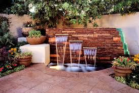 outdoor garden wall fountains design