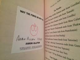 Aaron Allston #autograph | Wiki | Star Wars Amino