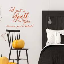 Hocus Pocus Halloween Decoration Quote Vinyl Decor Wall Decal Customvinyldecor Com