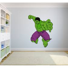 The Hulk The Avengers Cartoon Character Wall Decal Vinyl Sticker Art Home Decor Sticker Vinyl Mural