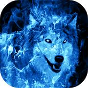 ice fire wolf wallpaper for android