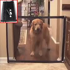 Dog Gate Mesh Pet Barrier Fences Portable Folding Indoor And Outdoor Pet Magic Gate Protection Safety Enclosure Pet Supplies Houses Kennels Pens Aliexpress
