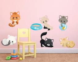 Kitten Wall Decals Etsy