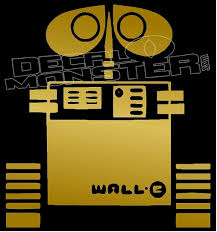 Wall E Silhouette 3 Decal Sticker Decalmonster Com