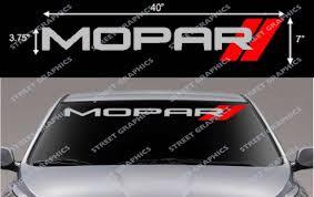 For Mopar Windshield Vinyl Decal Car Styling Car Stickers Aliexpress
