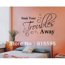 Free Shipping Bathroom Sticker Lettering Soak Your Troubles Away Bubble Vinyl Wall Decals Art Vinyl Wall