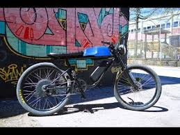 electric bike with cafe racer style