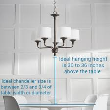 choose the right size lighting fixture