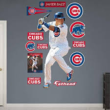 Fathead Javier Baez Chicago Cubs Real Big Wall Decal Wall Decals Amazon Canada