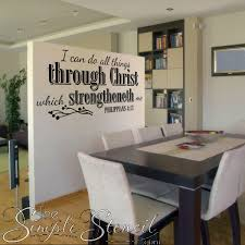 I Can Do All Things Bible Verse Vinyl Wall Quotes Simple Stencil Removable Decals