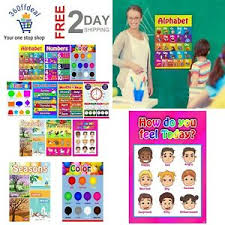 Classrooms Educational Posters For Toddlers Kindergarten Bedroom Poster For Kids Ebay