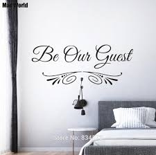 Be Our Guest Quote Guest Bedroom Entryway Wall Art Stickers Wall Decals Home Diy Decoration Removable Room Decor Wall Stickers Wall Stickers Aliexpress