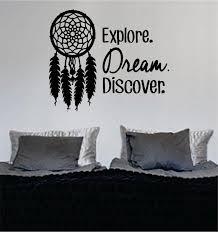 Dreamcatcher Explore Dream Discover Quote Decal Sticker Wall Vinyl Dec Boop Decals