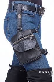 leather thigh holster bag lissa hill