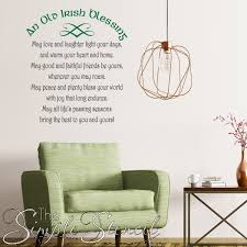 Old Irish Blessing Wall Decor Simple Stencil Wall Decals Blessings Of The Irish
