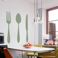 Dining Cutlery Silhouette Set Wall Art Decals
