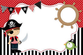 Tarjeta De Pirata Invitacion Cumple 4 De Genaro Invitaciones