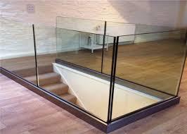 customized frameless glass deck railing