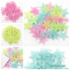 100 Wall Glow In The Dark Stars Stickers Kids Bedroom Nursery Room Ceiling Decor 262679427120