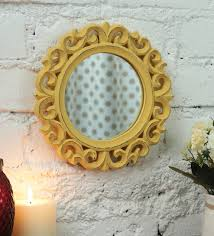 wall mirror in yellow colour by zahab