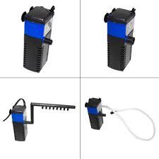 Mini Đa chức năng 3 trong 1 Bể Cá Cảnh Nội Bộ Oxy Increaser Lọc 4W Cá Máy  Bơm Chìm Phun Nước máy lọc|