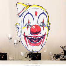 Creepy Clown Face Little Hat Wall Decal At Retro Planet