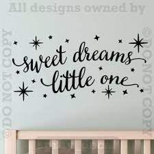 Sweet Dreams Little One Baby Nursery Wall Decal Vinyl Sticker Etsy