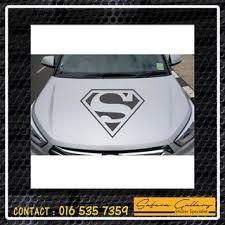 Car Sticker Superman Logo Pattern B Bumper Hood Windshield Windscreen Size Xs S M Shopee Malaysia