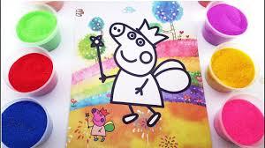 Video - Tô màu tranh cát PEPPA PIG