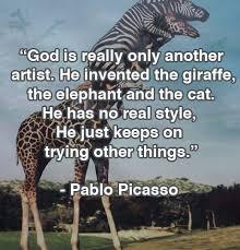 god the inventor pablo picasso quote diy genius