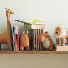 Leather Animal Bookends Bookends Kids Decor Kids Room