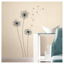 14 Whimsical Dandelion Peel And Stick Wall Decal Black Roommates Target