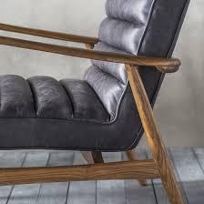 retro black leather armchair primrose