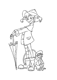 Pippi Longstocking Rainy Day Coloring Pages Pippi Langkous