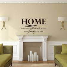 Family Themed Vinyl Wall Decal Quote Home Where You Treat Your Friends Like Family And Your Family Like Friends Customvinyldecor Com