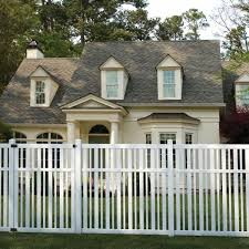 Veranda Pro Series 4 In X 4 In X 8 Ft White Vinyl Lafayette Spaced Picket Routed Line Fence Post 144771 The Home Depot