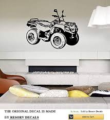 Amazon Com Resordecals Wall Decal Sticker Bedroom Atv Car 4 Wheeler Motorcycle Boys Girls Teenager Room Tt6684 Home Kitchen