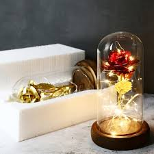 glass rose dome ping rose