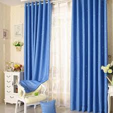 Navy Blue Star Curtains For Kids Room Lovely Printed Curtains For Boys Bedroom Baby Room Curtains Window Drapes Curtains Aliexpress
