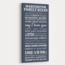 Family Rules Canvas Wall Art Say Please And Thank You 365canvas