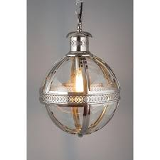 nickel finish globe chandelier