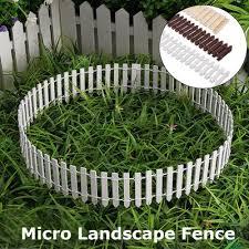 Miniature Garden Fence Wooden Stockade Micro Landscape Dollhouse Miniature Home Decor Buy At A Low Prices On Joom E Commerce Platform