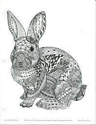 Ornamental Rabbit1 Mozaiekpatronen Dieren Kleurplaten En