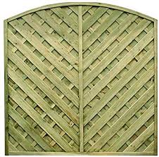 Diyclick2buy Garden Fence Panels European V Arched 1 5m X 1 8m Fully Treated Various Pack Sizes 15 Amazon Co Uk Garden Outdoors