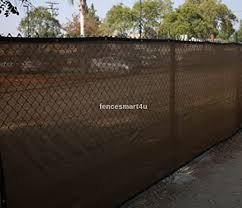 Amazon Com 5 X 25 Dark Brown Uv Rated 85 Blockage Fence Privacy Screen Windscreen Shade Cover Fabric Mesh Tarp W Grommets 145gsm Garden Outdoor